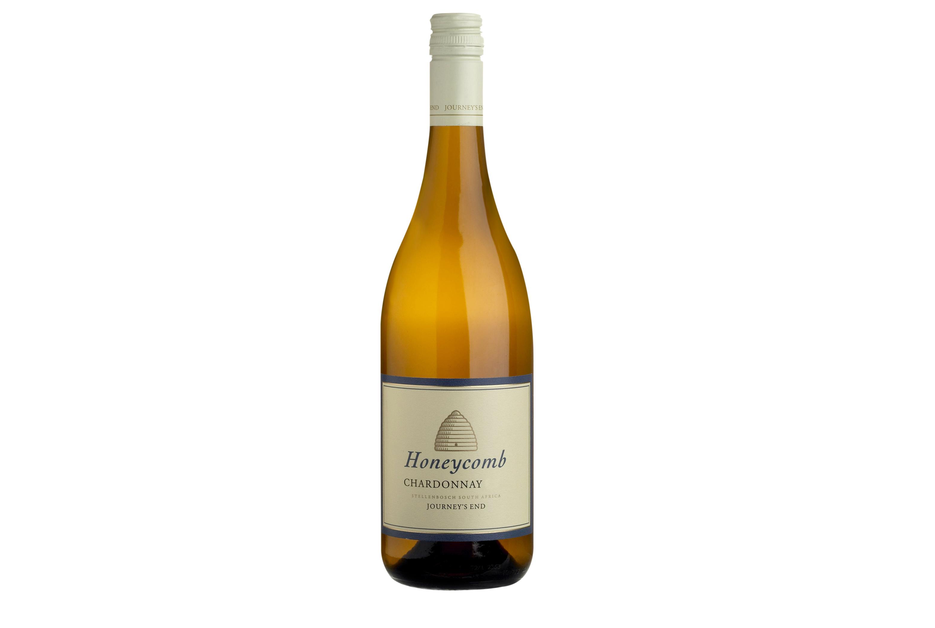 Honeycomb wine bottle