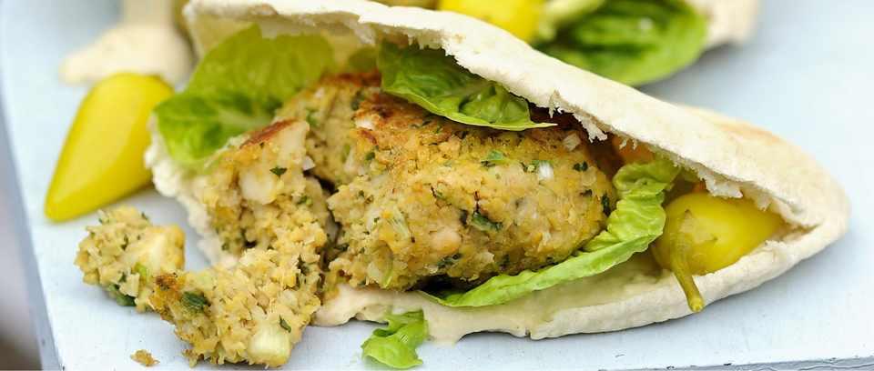 Falafel and Halloumi Burgers