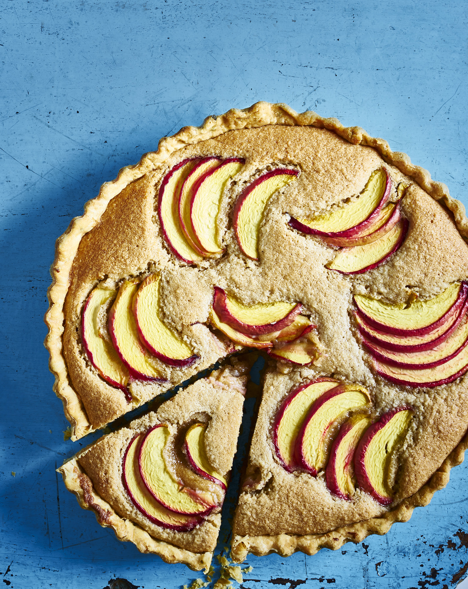 Brown Butter Frangipane and Nectarine Tart