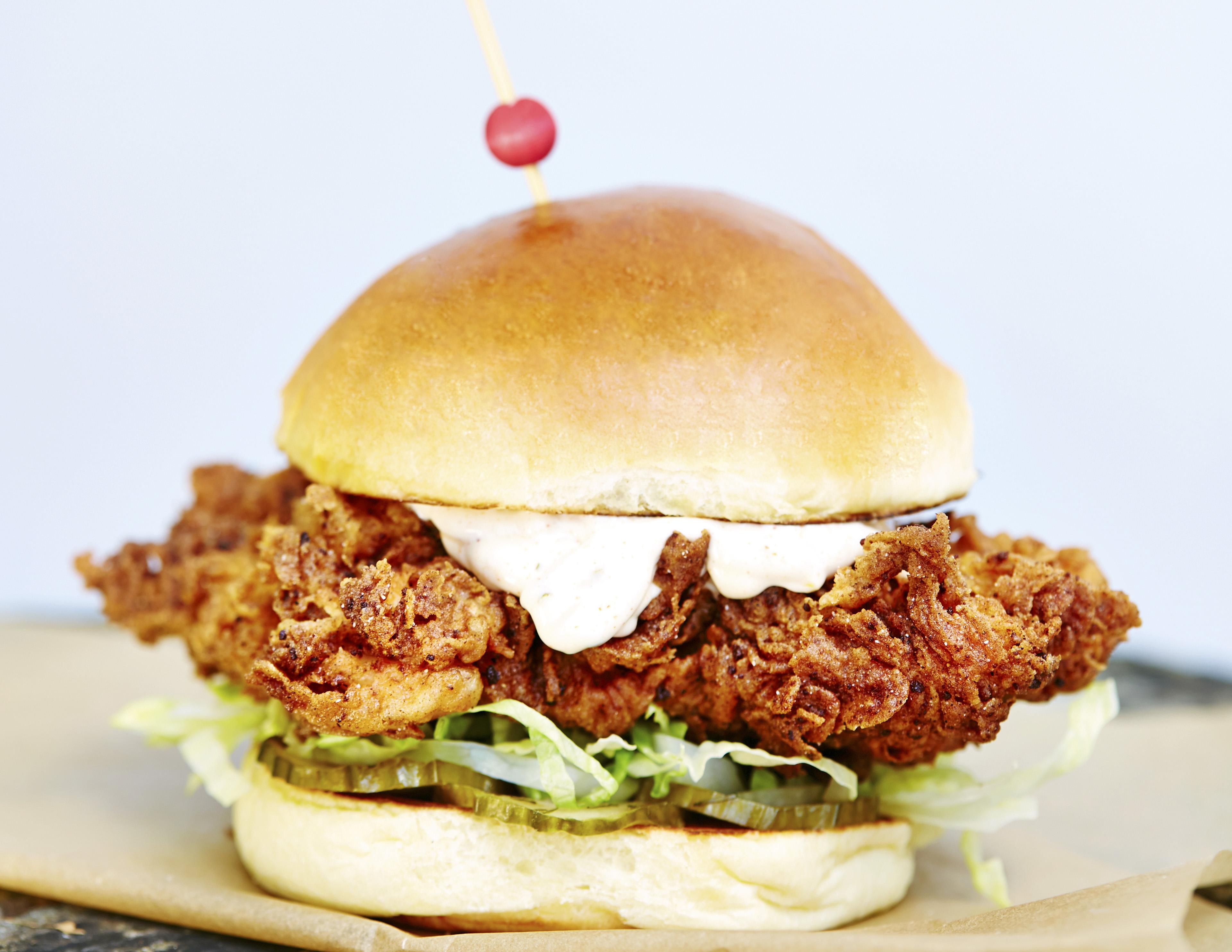 Butchies' buttermilk chicken sandwich (aka The Clancy Wiggum)