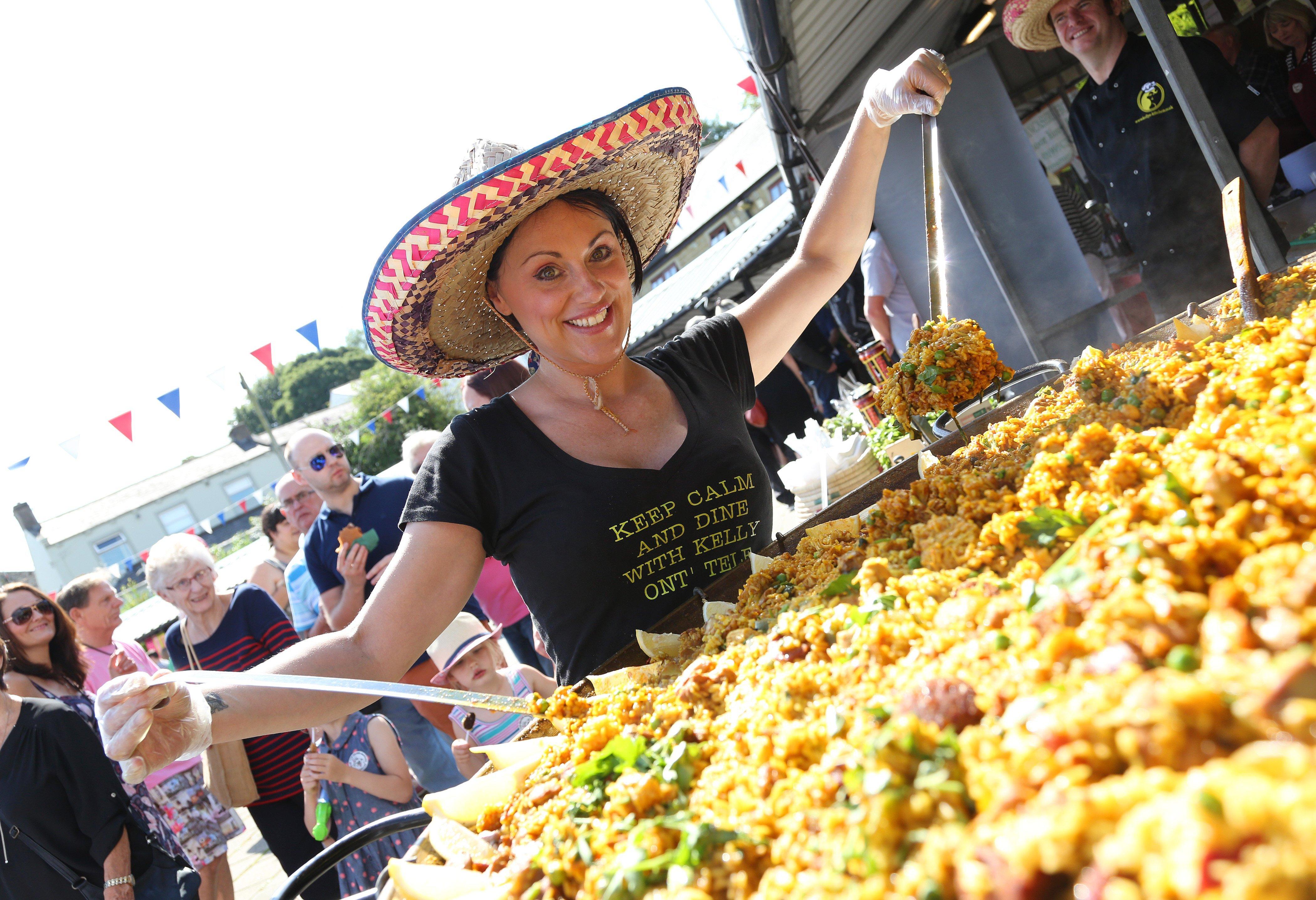 Paella at Clitheroe Food Festival