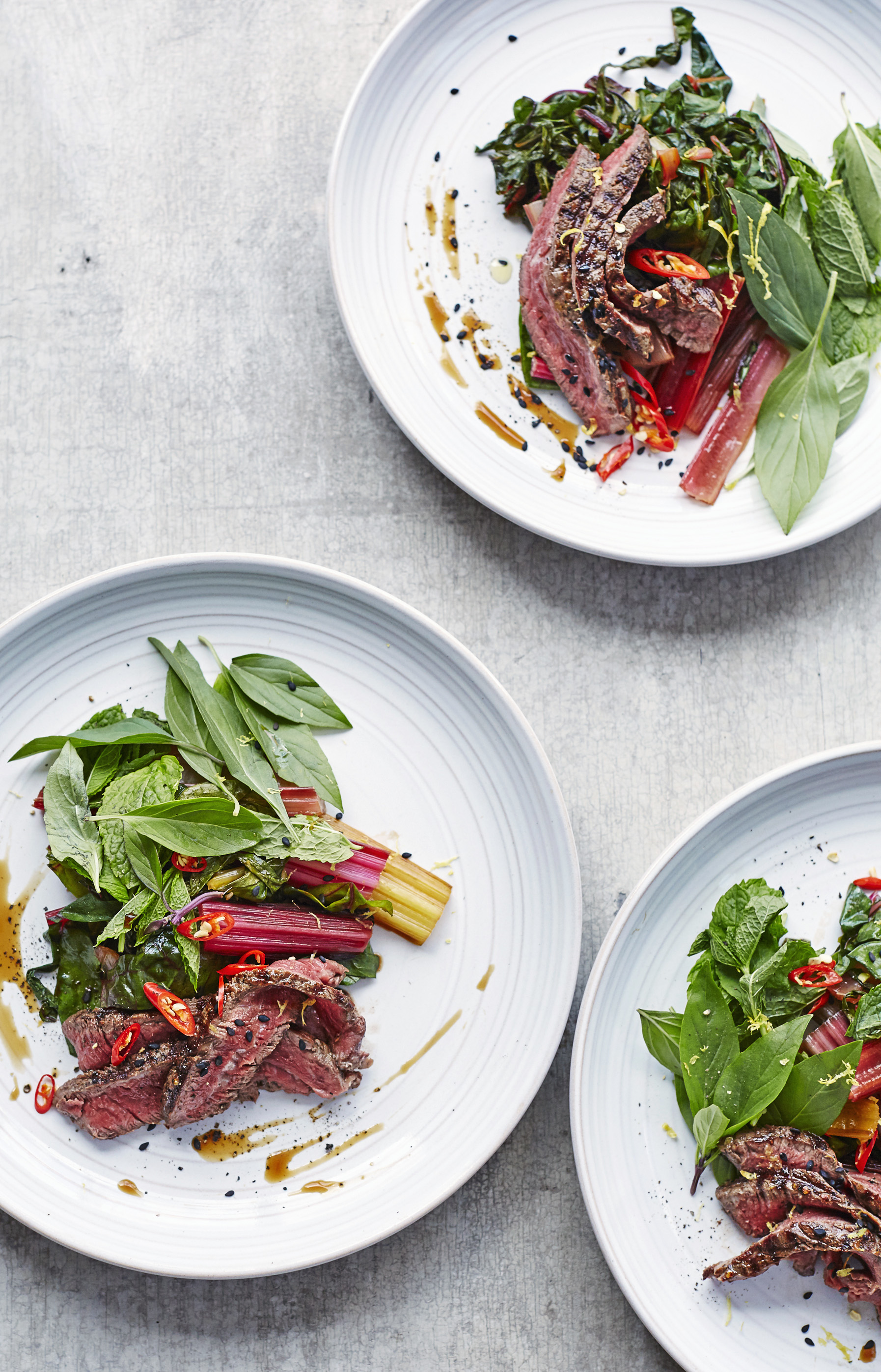 Wilted Chard and Beef