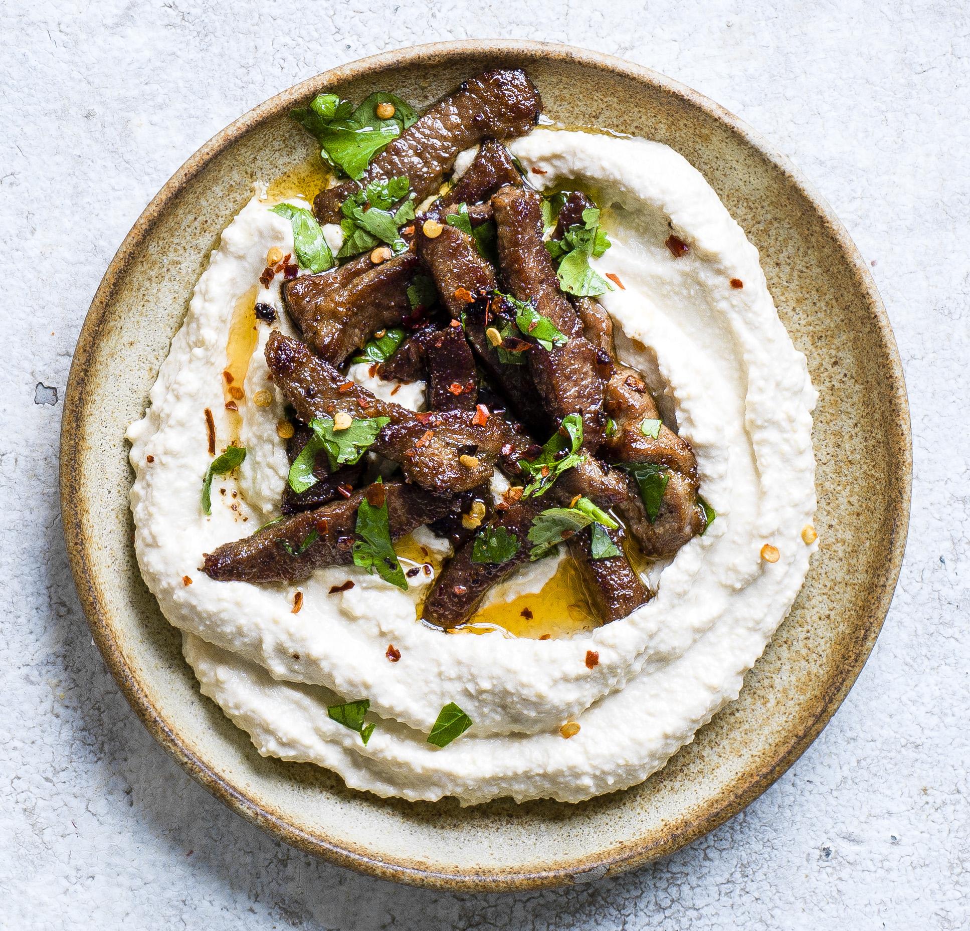 spicy lamb hummus
