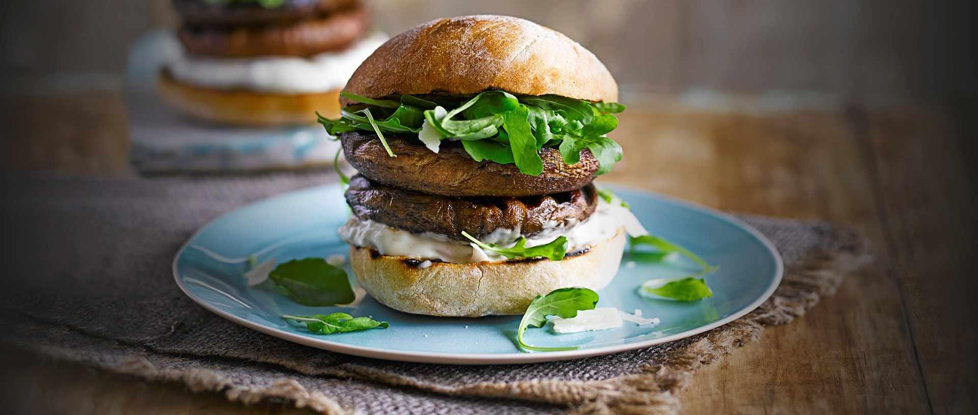 truffled mushroom burger