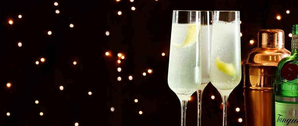 French 75 Champagne Cocktail Recipe