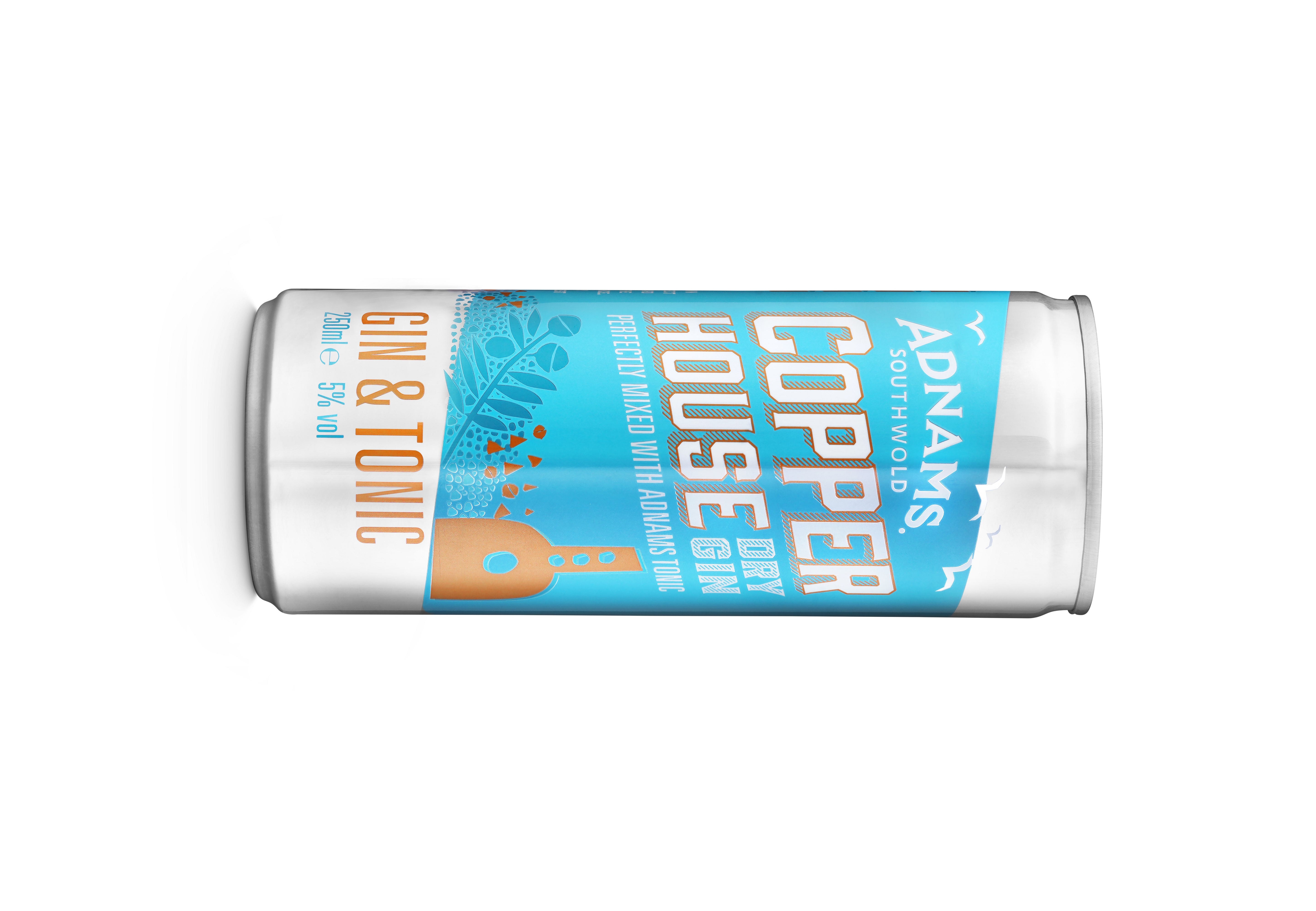 Copper House gin and tonic in a can