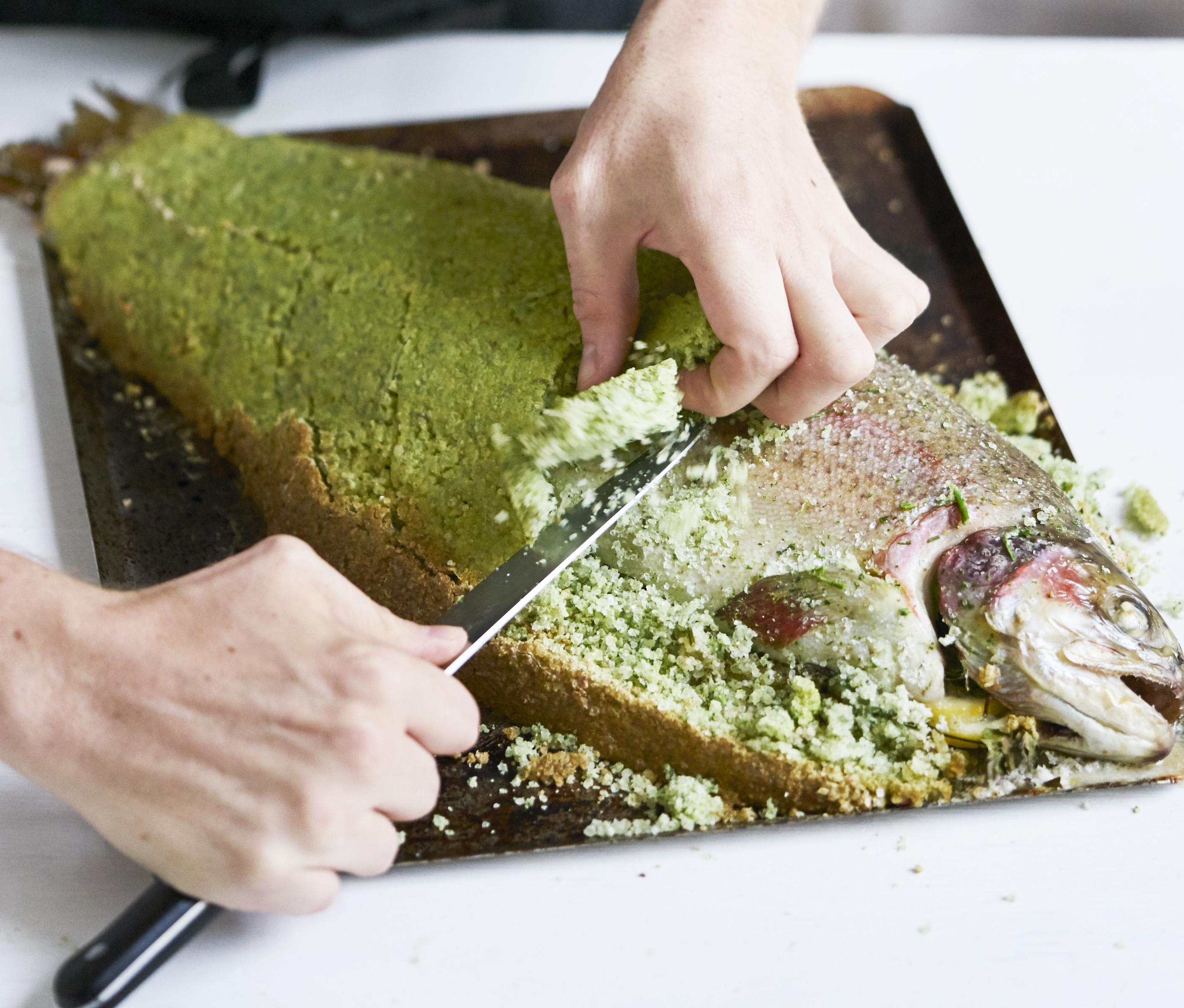 Salt Baked Sea Trout