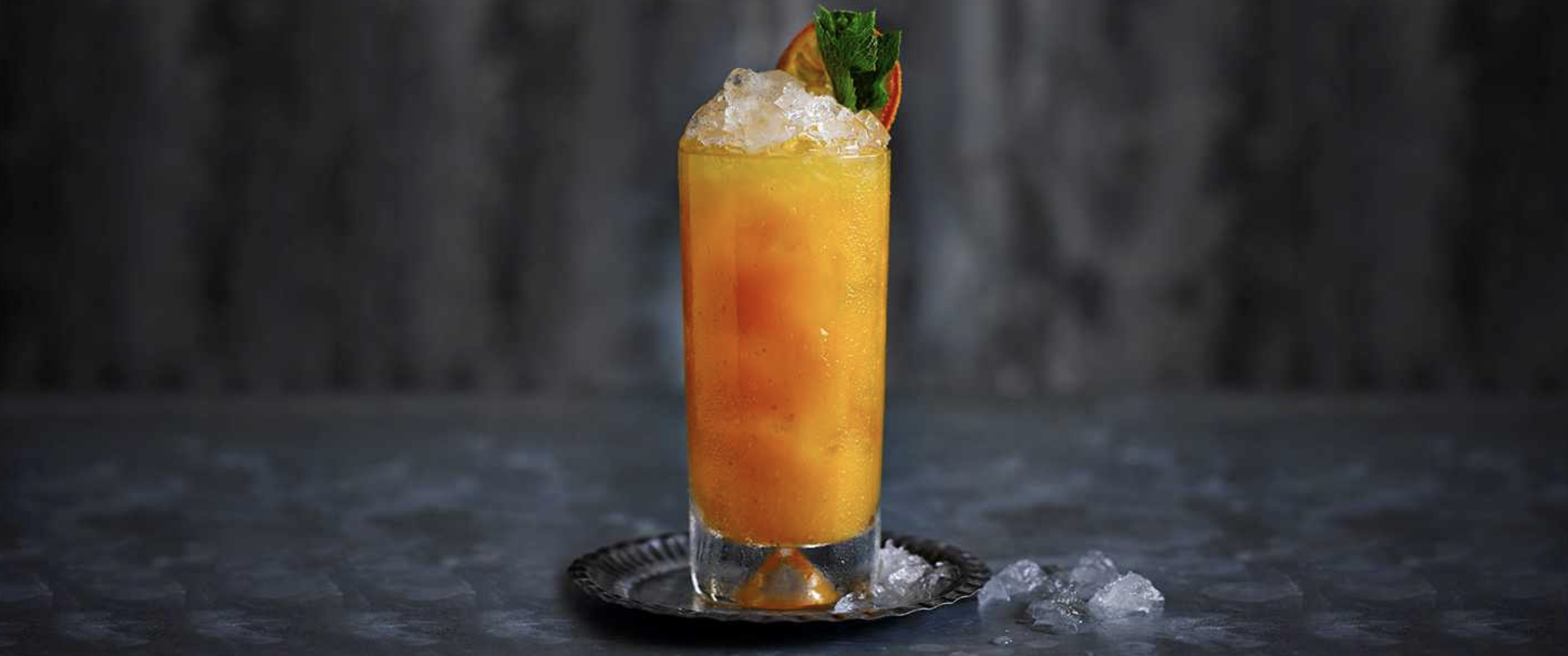 Welcome back to Blighty cocktail with pumpkin and spiced rum