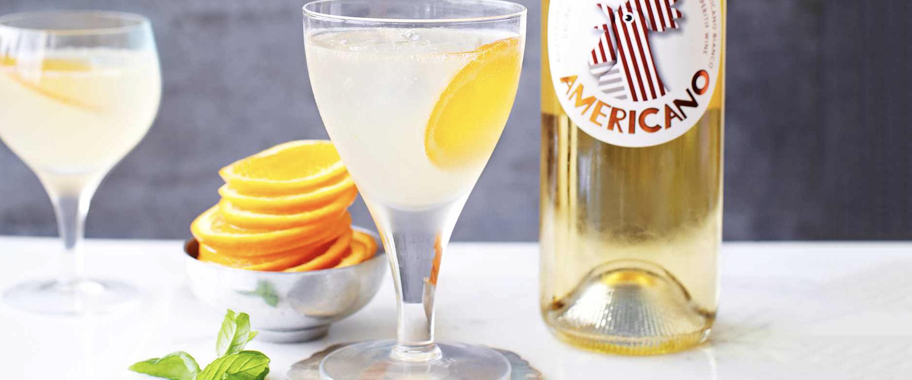 The new spritz - Cocchi Americano spritz with grapefruit juice and prosecco
