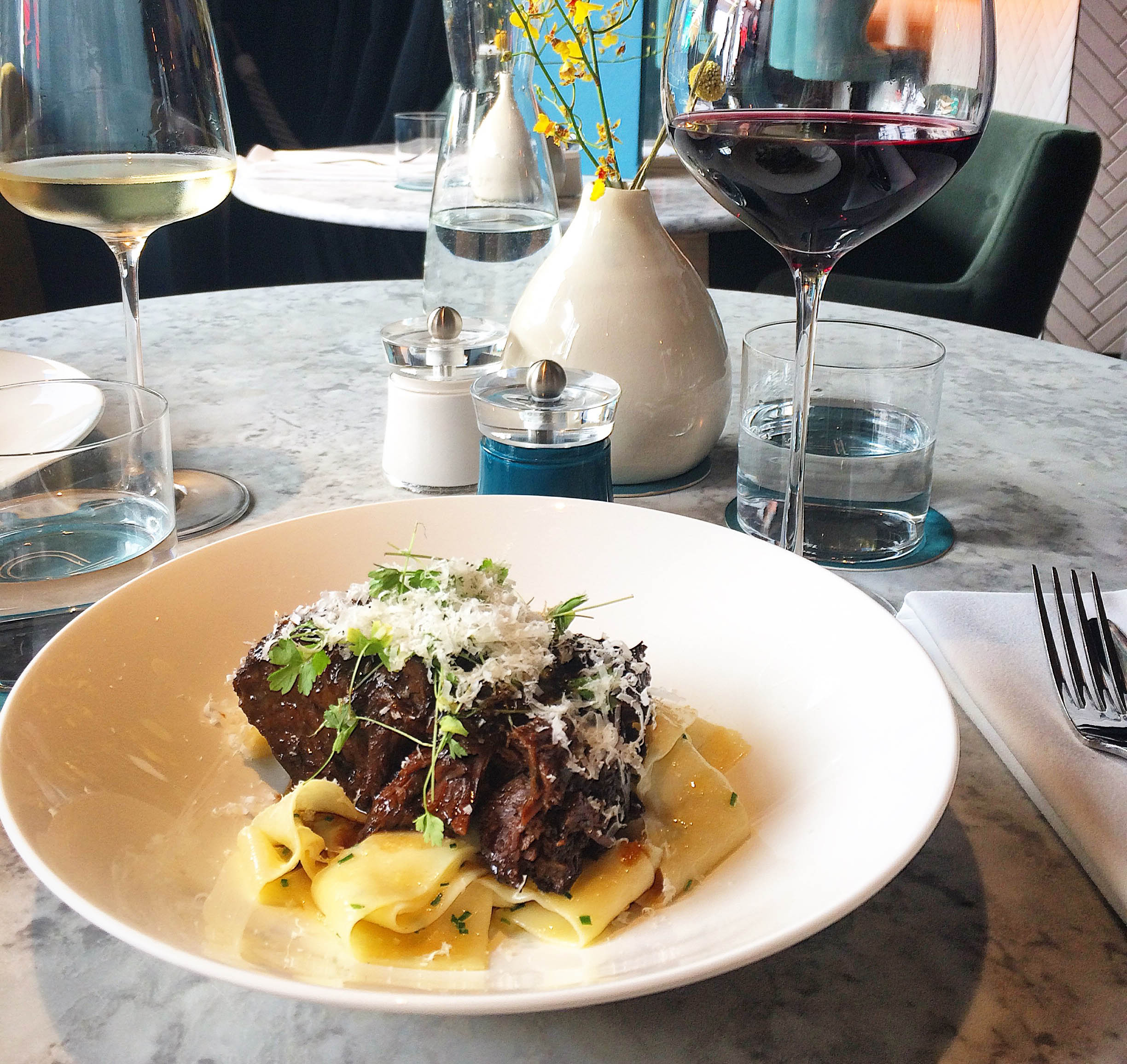 Beef cheek pappardelle at Pascere Brighton