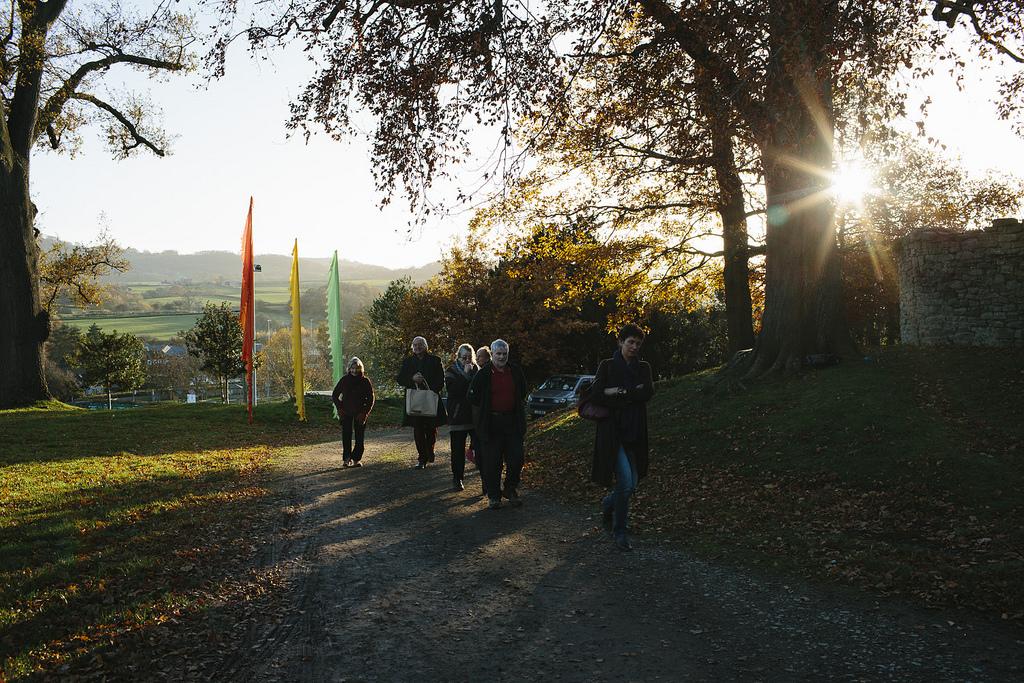 Winter Weekend - walking at Hay festival