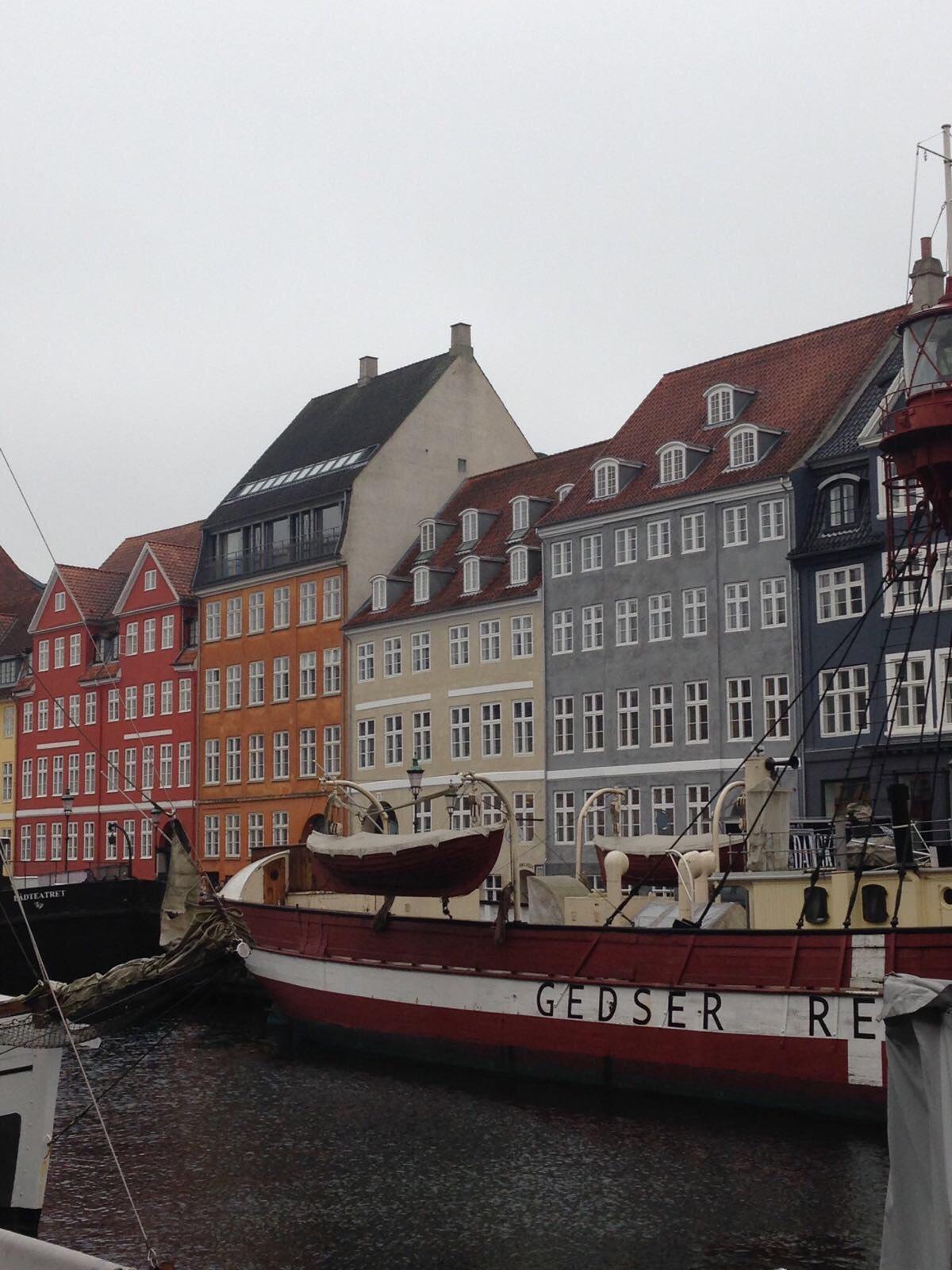 Copenhagen, Nyhavn, but the river - colourful houses