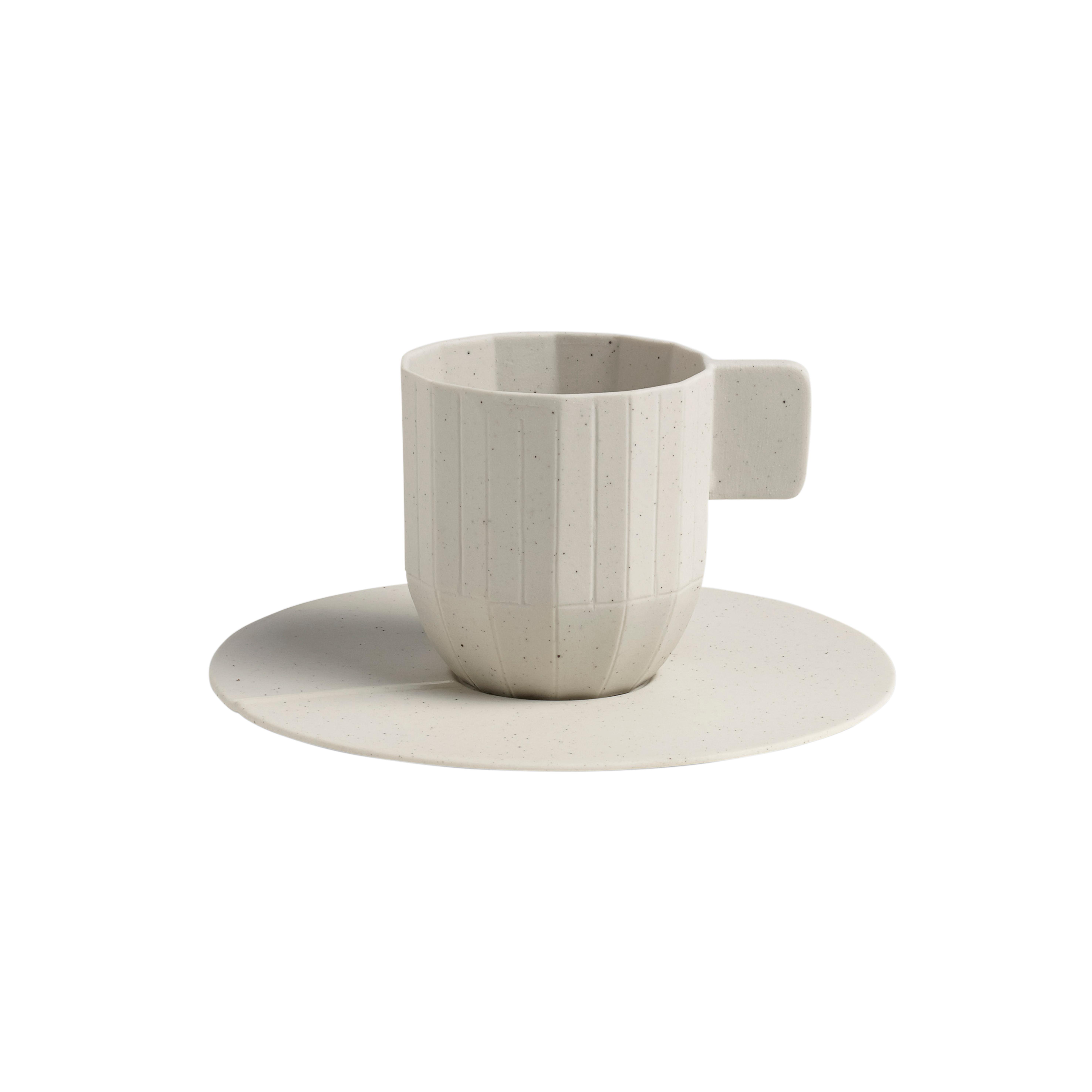 HAY Paper Porcelain Espresso Cup & Saucer - Grey Paper Porcelain espresso cup, saucer