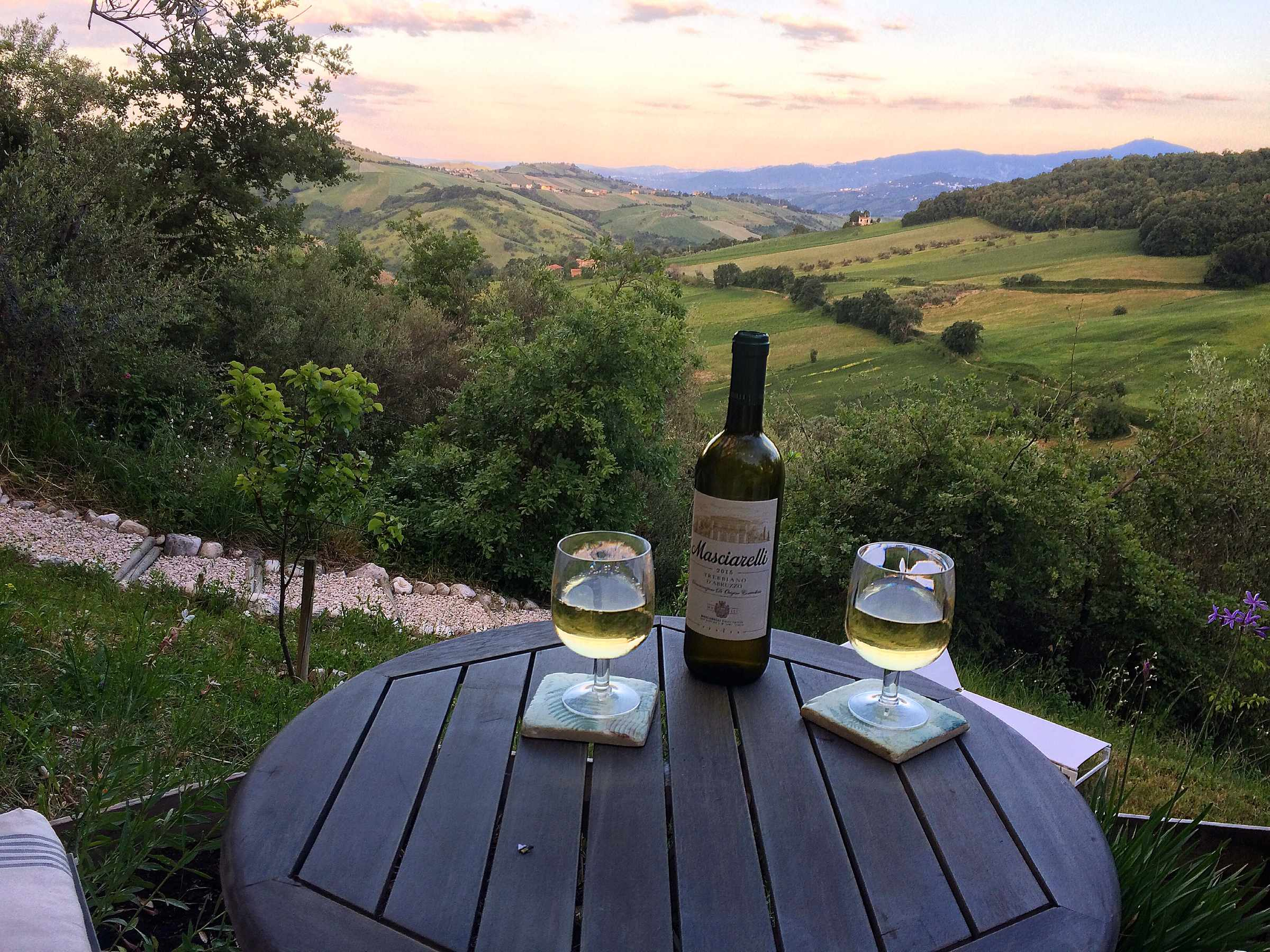 Wine at Fireflies and Figs, Abruzzo