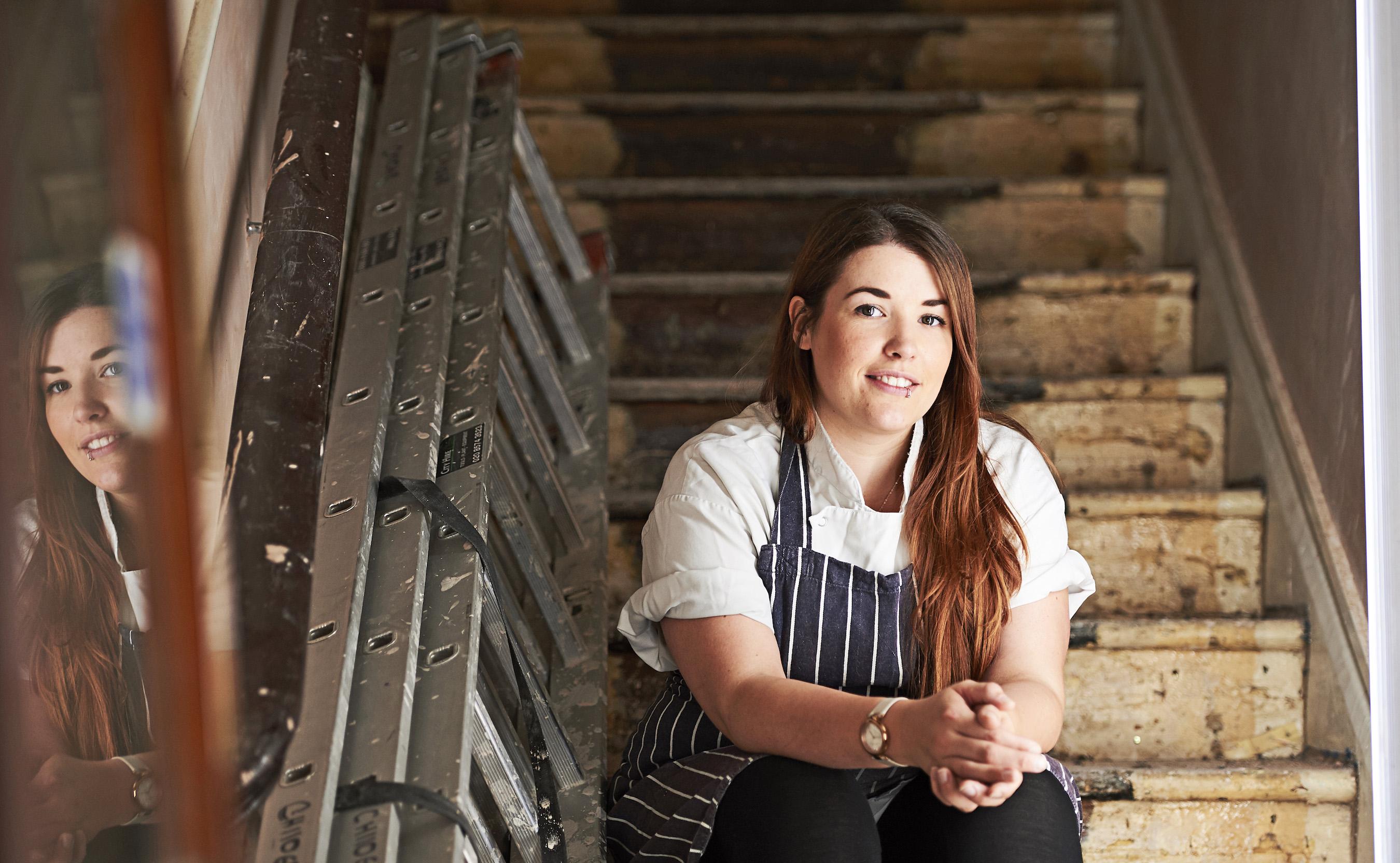 Sara Lewis, head chef of The Pilgrim Hotel. Photo by Thomas Bowles
