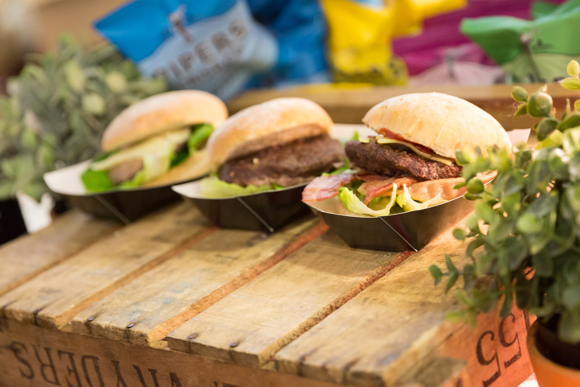 Burgers at the Destinations food and travel show