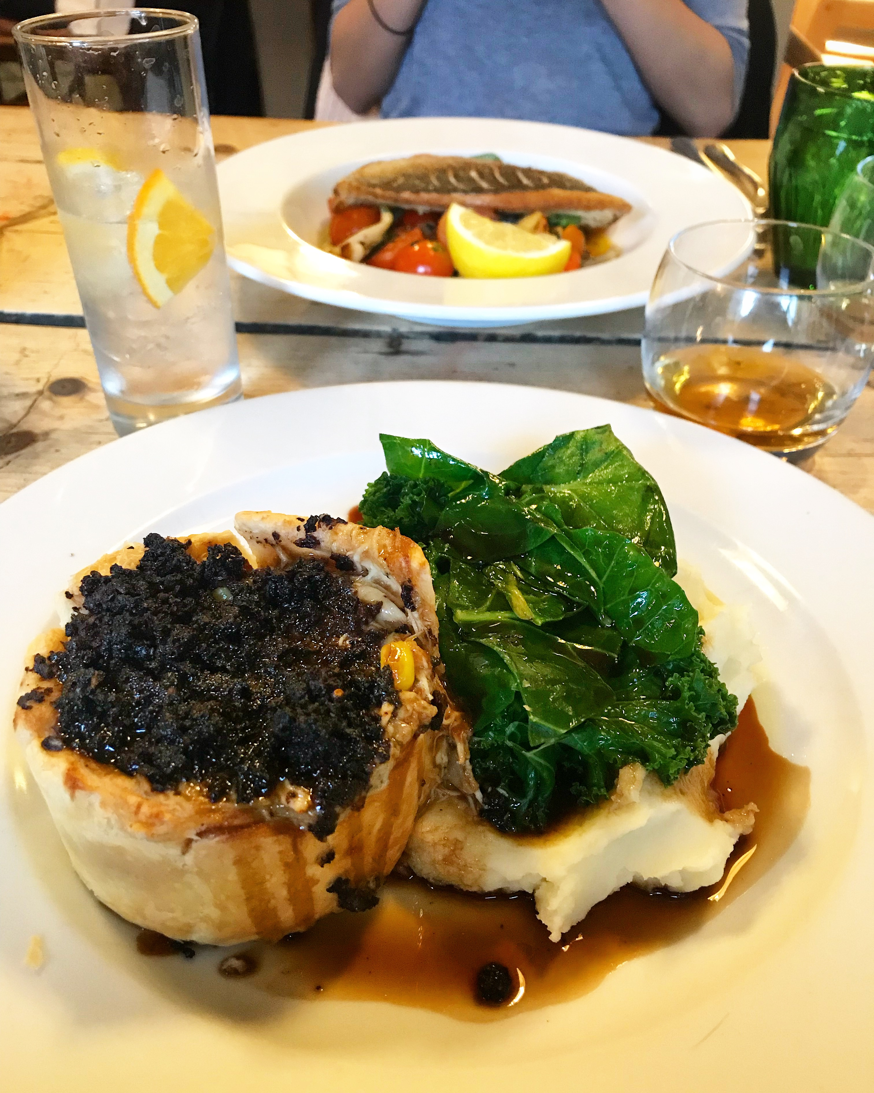 Pie and mash at The Potting Shed Crudwell