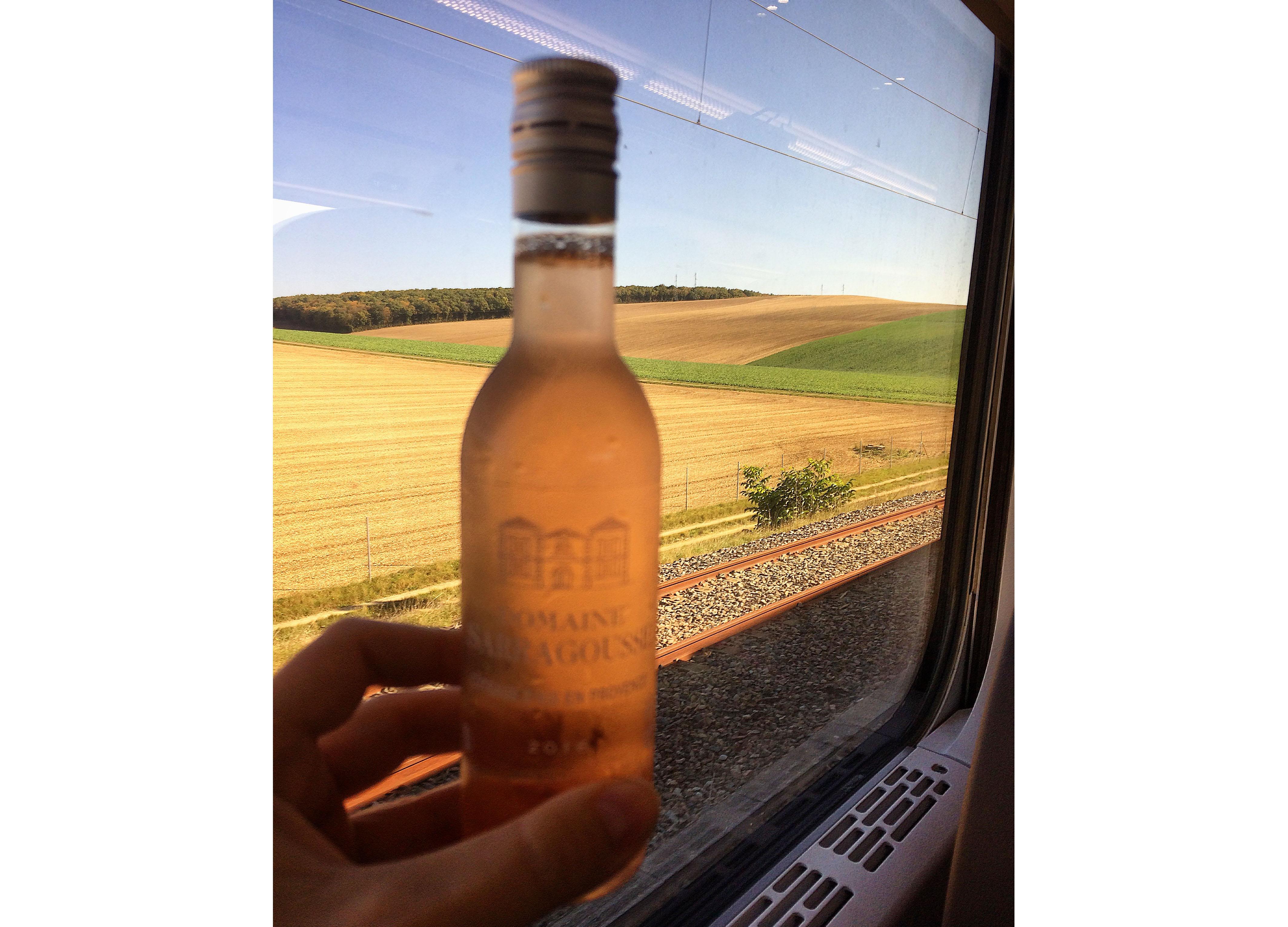 Rosé on the Eurostar London Avignon