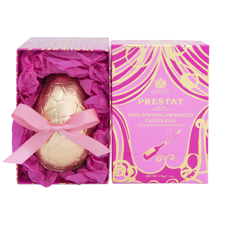 Prestat Pink Popping Prosecco Easter Egg, £17.50 (3)