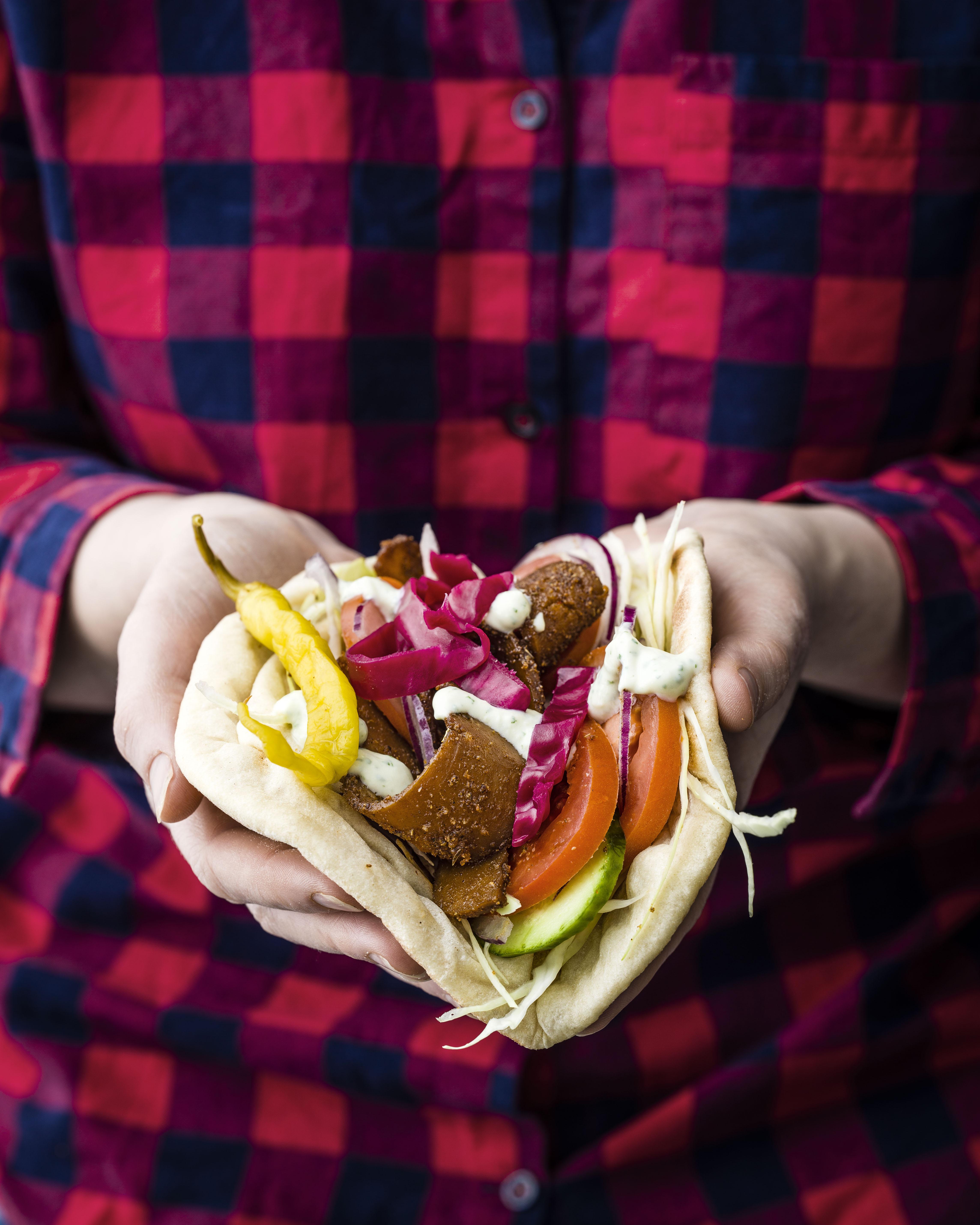 Vegan Kebab Recipe with Tofu Mayonnaise