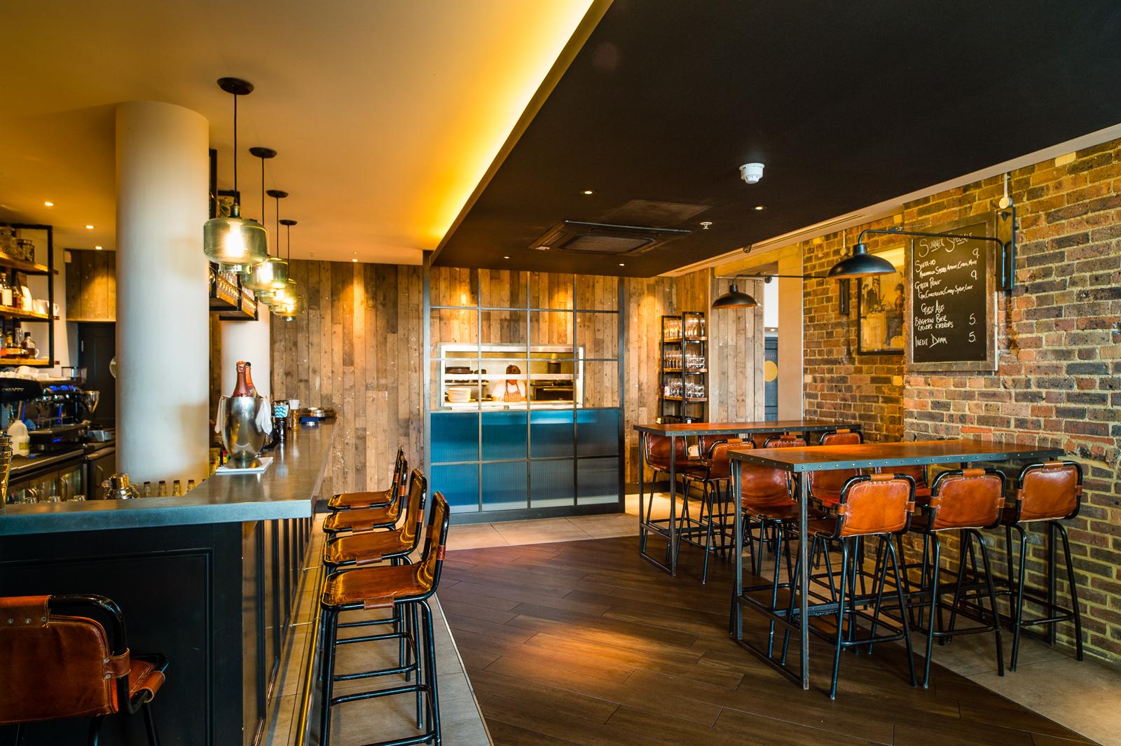 The bar at The Salt Room