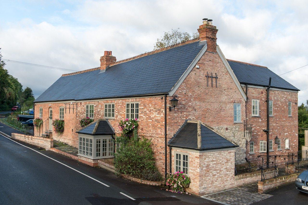 Exterior of the Three Daggers Pub, Wiltshire