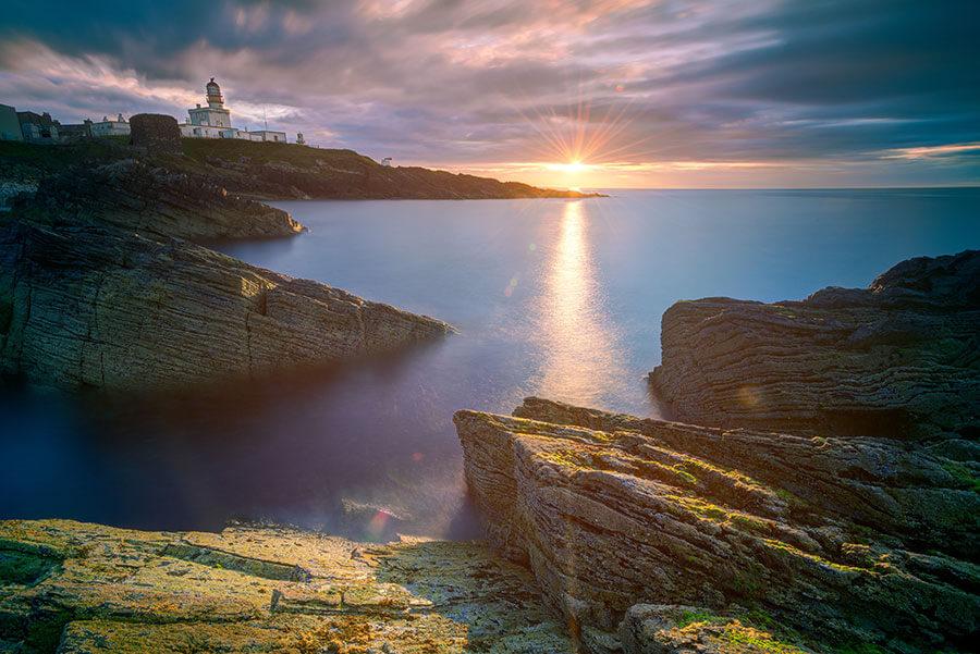 Sunset over the coast