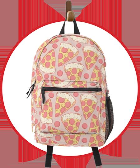 Pastel Pink Pepperoni Backpack