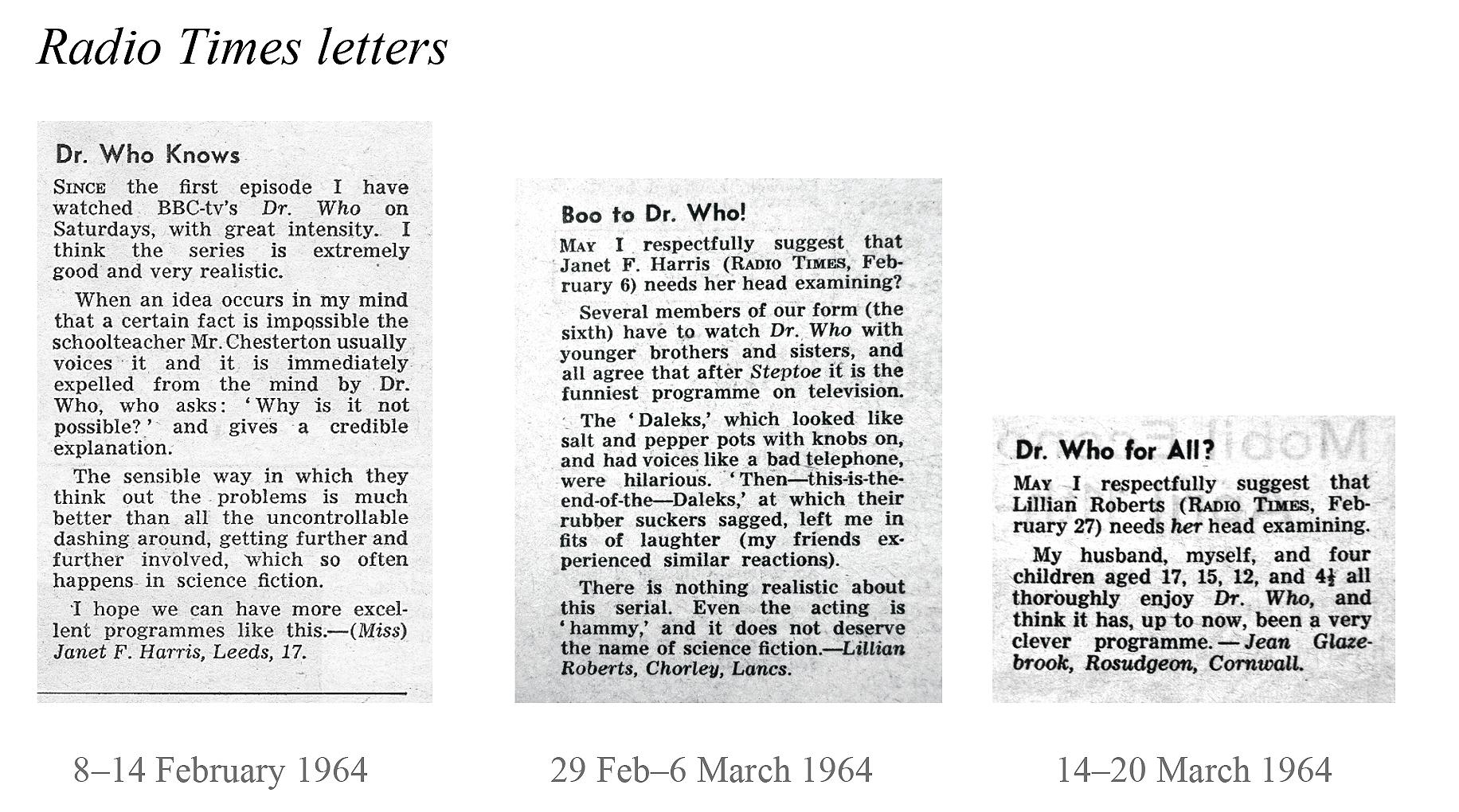 Microsoft Word - Radio Times letters.doc