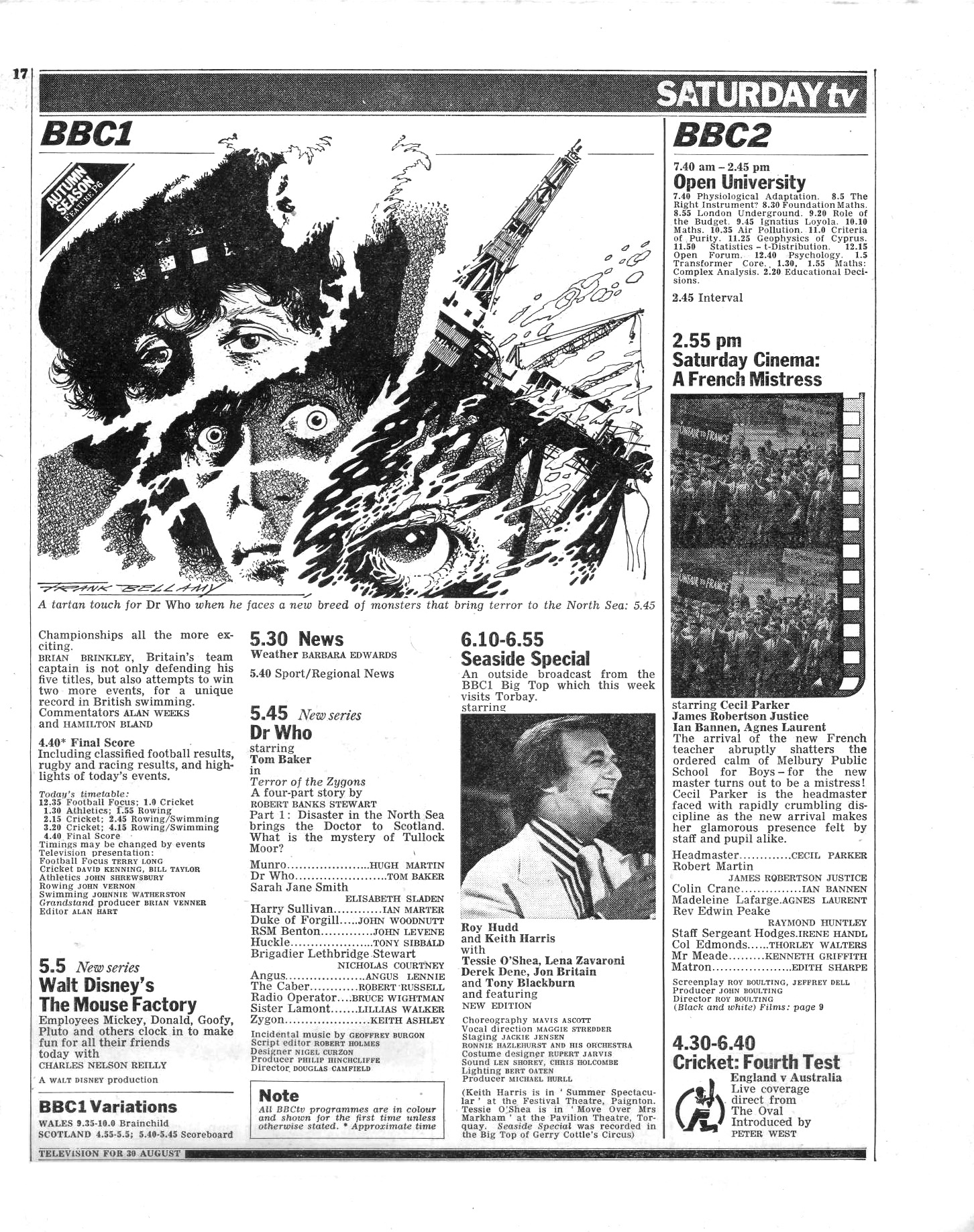 Zygons Sat TV page