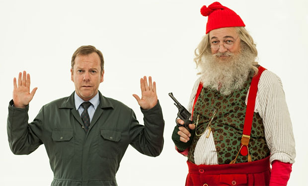 Watch Stephen Fry a Father Christmas and 24 star Kiefer Sutherland ...