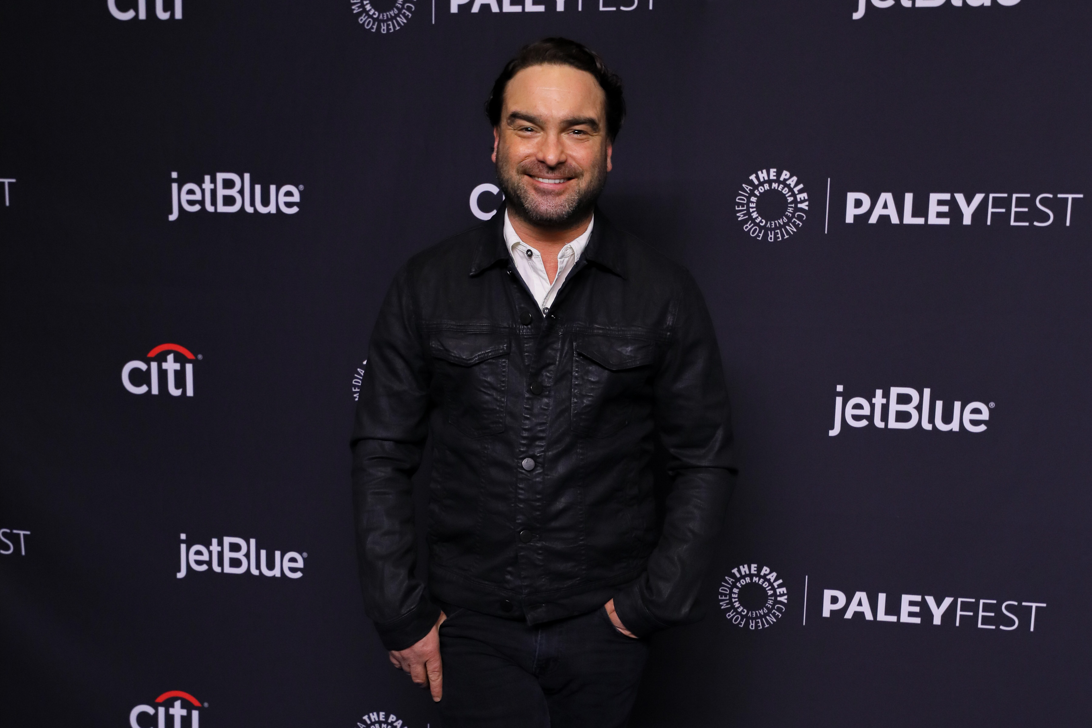 """HOLLYWOOD, CA - MARCH 21:  Johnny Galecki attends PaleyFest Los Angeles 2018 - """"The Big Bang Theory"""" and """"Young Sheldon"""" at Dolby Theatre on March 21, 2018 in Hollywood, California.  (Photo by Presley Ann/Patrick McMullan via Getty Images)"""