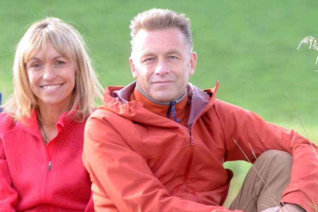 Michaela Strachan and Chris Packham
