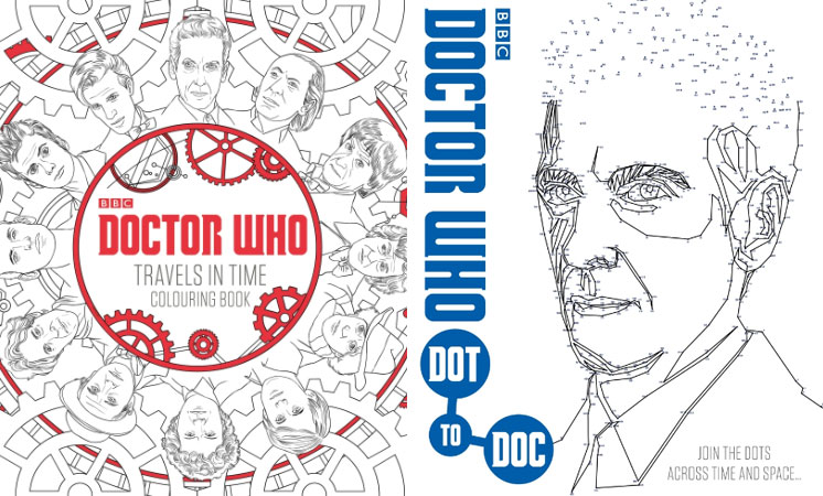 Doctor Who Release Colouring And Dot To Books