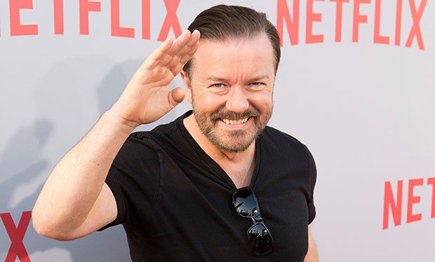 Ricky Gervais' celebrity impressions have to be seen to be believed