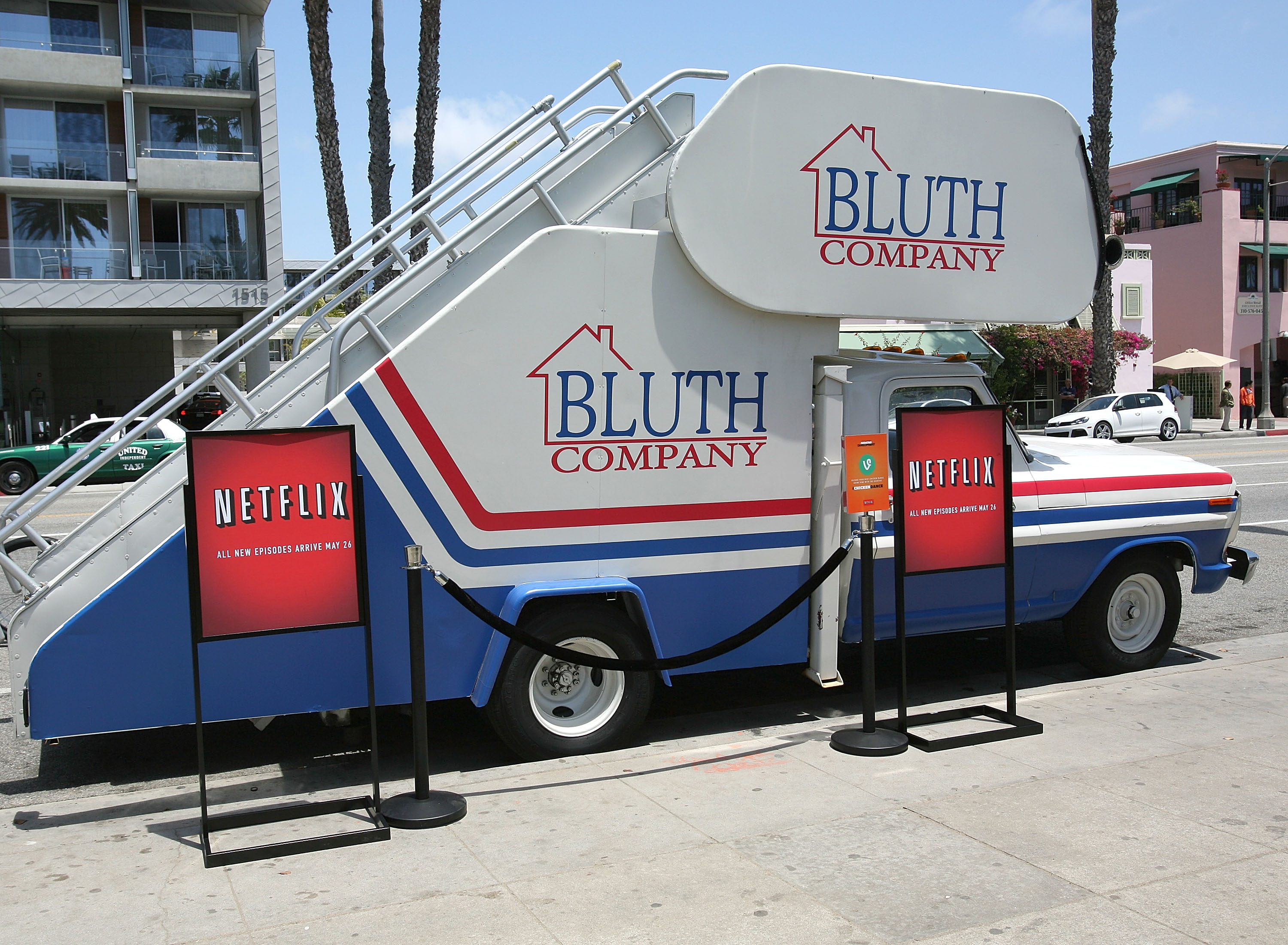 "SANTA MONICA, CA - MAY 19:  General atmosphere at ""Arrested Development"" Bluth Stair Car at Santa Monica Pier on May 19, 2013 in Santa Monica, California.  (Photo by Maury Phillips/Getty Images for Netflix)"