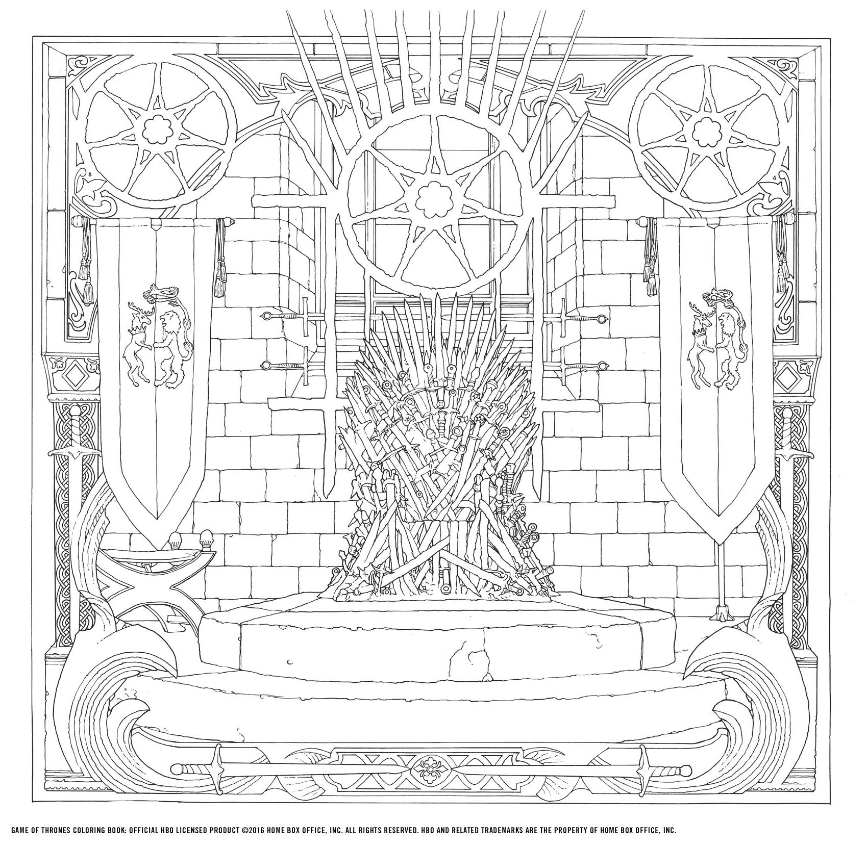 Game of Thrones colouring book revealed