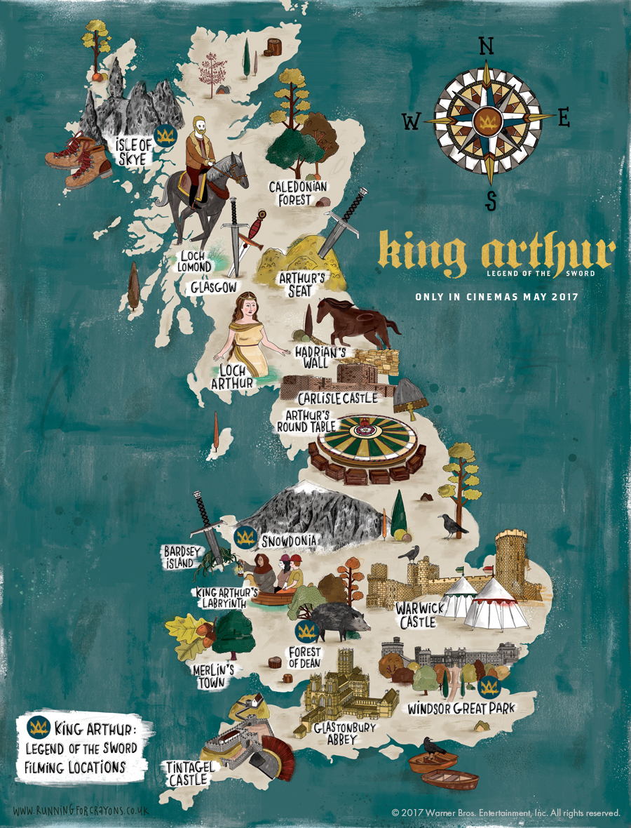 Where was King Arthur Legend of the Sword filmed An illustrated