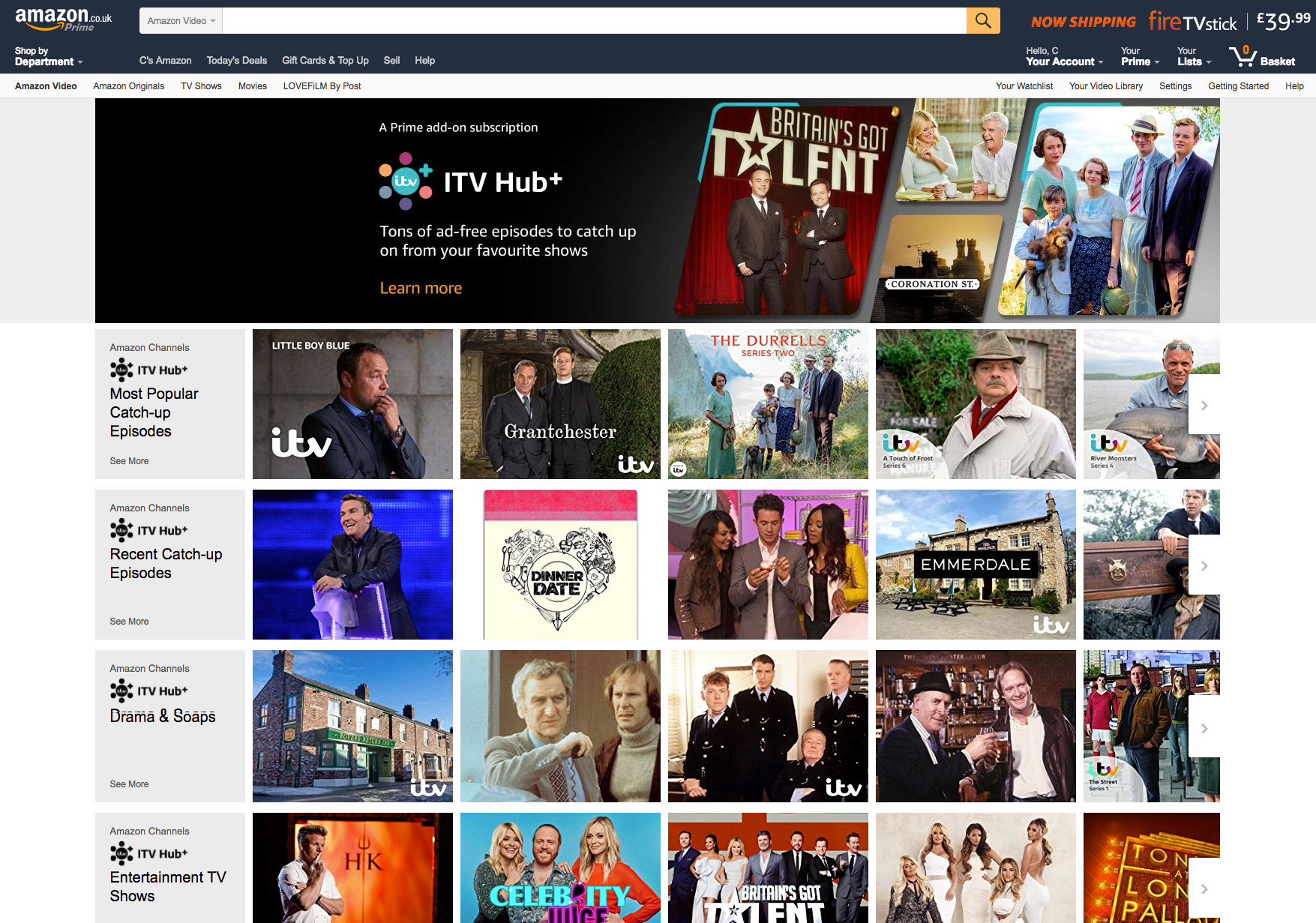 Amazon Channels UK guide and review   How much does Amazon