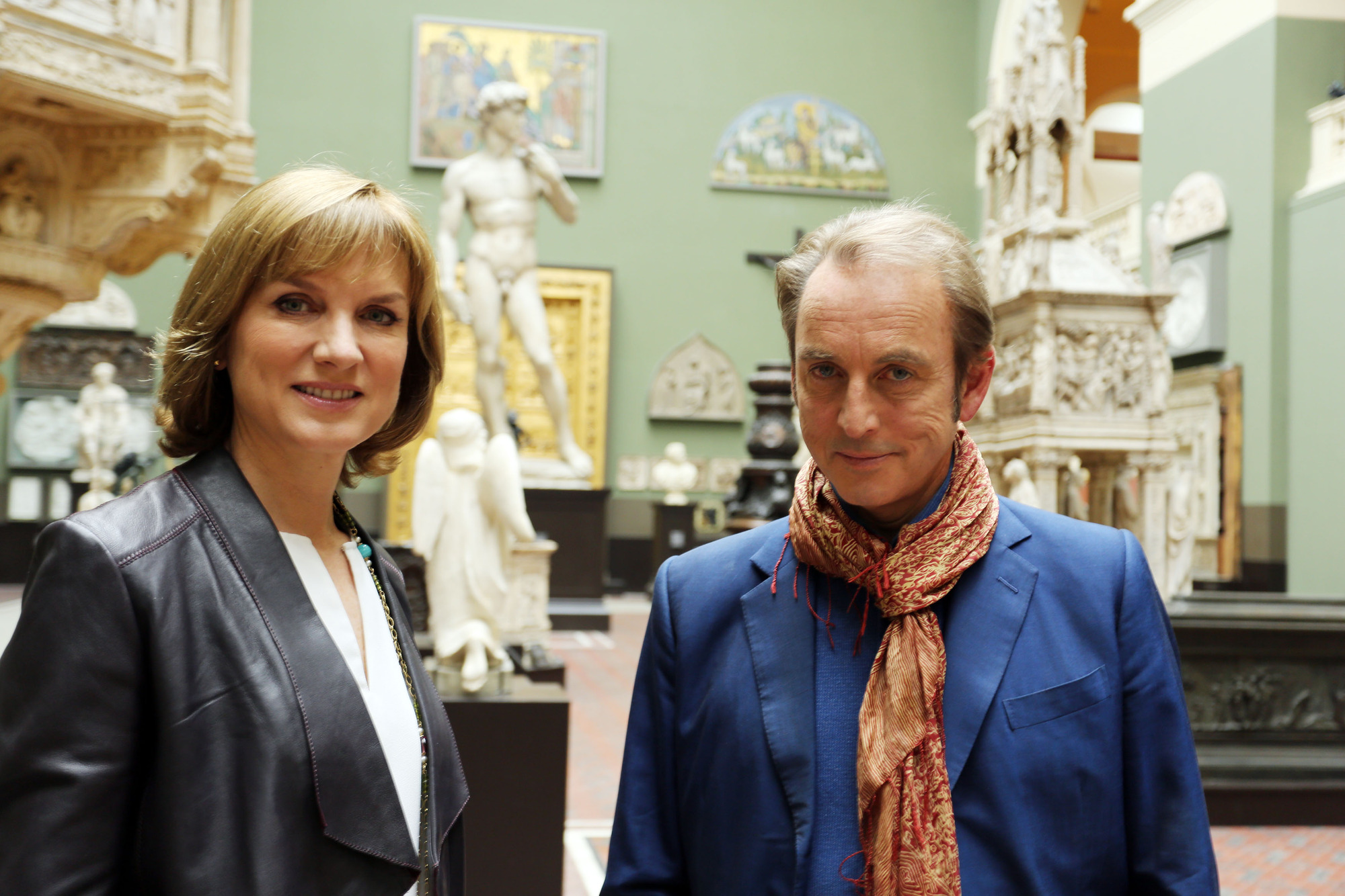 Fiona Bruce and Philip Mould in Fake or Fortune?