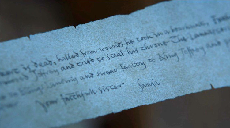 What did the letter Arya find say?