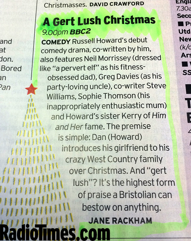 Russell Howard's A Gert Lush Christmas: what time is it on BBC2 ...