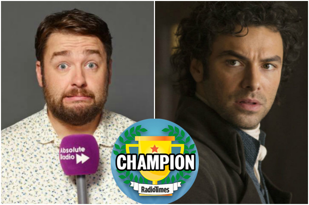 Aidan Turner Jason Manford Champion Final Logo