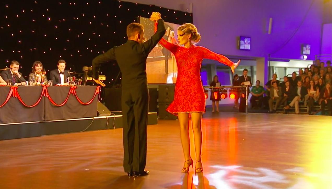 Charlotte Hawkins on the dance floor in 2013