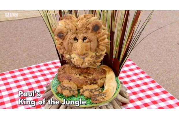 Bake Off bread lion