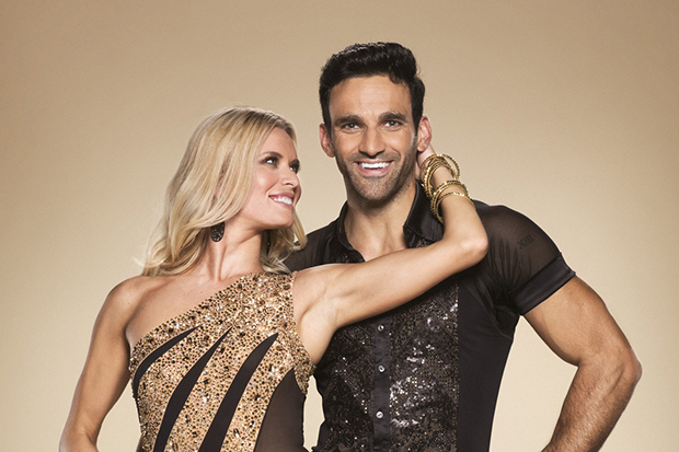 Strictly star Davood Ghadami with his partner Nadiya