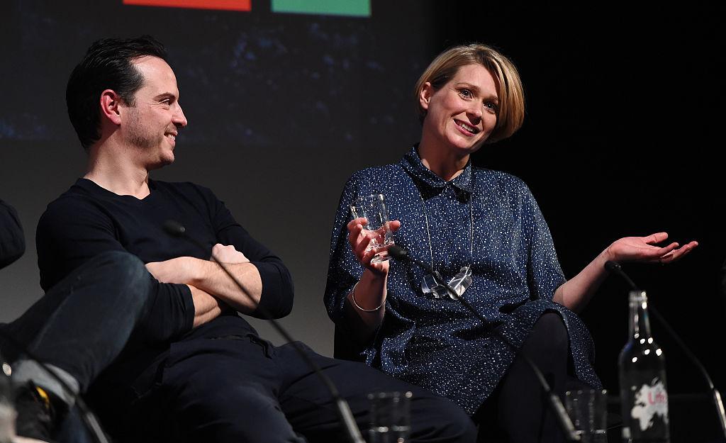 Sian Brooke with Sherlock co-star Andrew Scott (Getty)