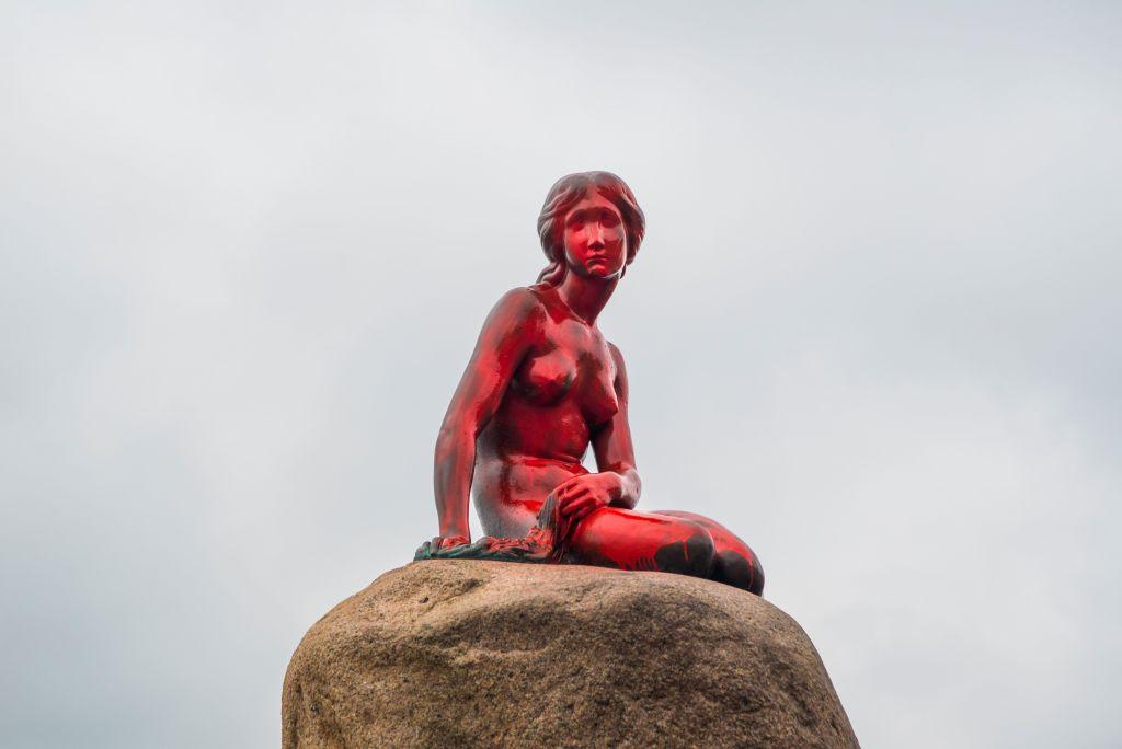 Statue of the Little Mermaid in Copenhagen