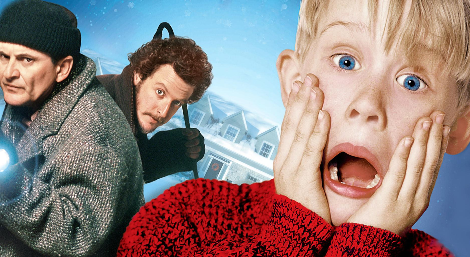 Joe Pesci, Daniel Stern and Macaulay Culkin in Home Alone