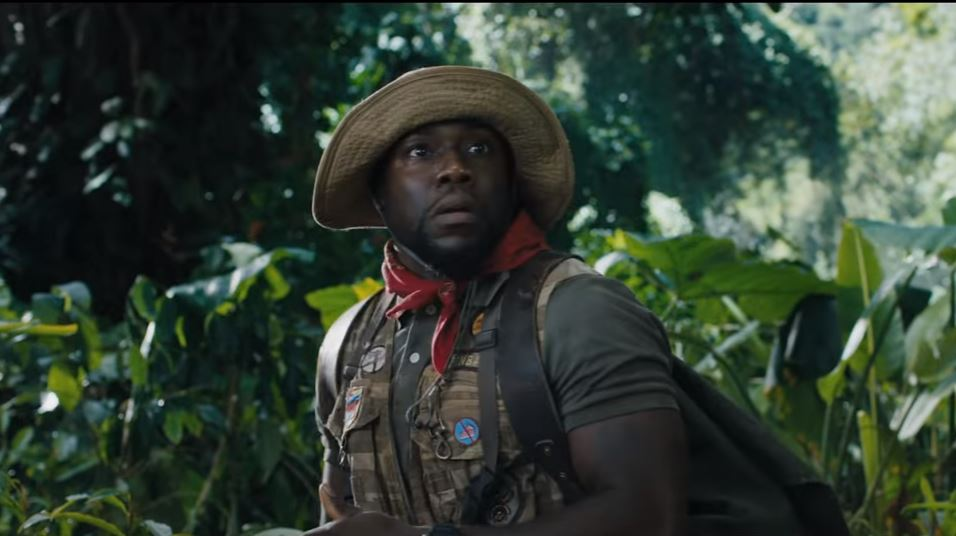 New Jumanji Trailer Kevin Hart Faces Death By Cake